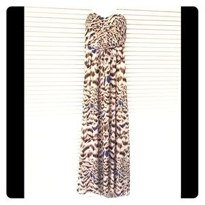 Erin Fetherston full length muted print gown!